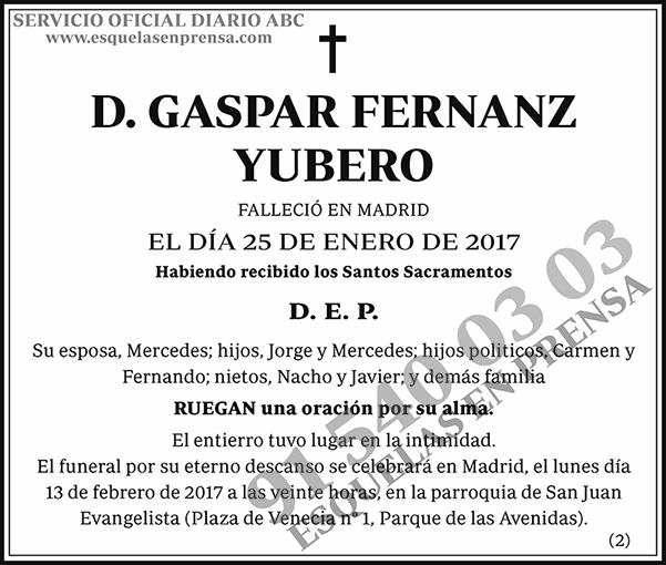 Gaspar Fernanz Yubero